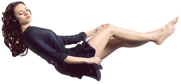 Femme en lévitation