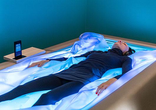 Le concept du lit de flottaison bomedic